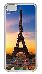 iPhone 5c Case Unique Cool iPhone 5c PC Transparent Cases Beautiful Tower2 Design Your Own iPhone 5c Case