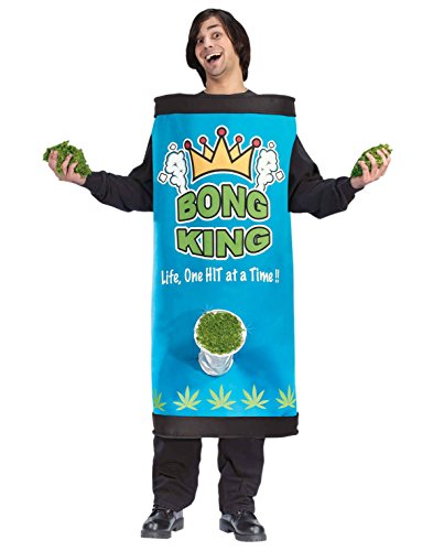 Bong Costumes (Bong King Costume College Funny Costume Weed Pot Sizes: One Size)