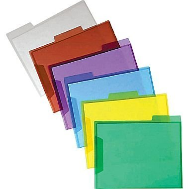 Staples Translucent Poly File Folders  Assorted  6 Pack