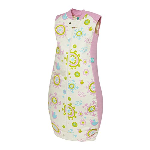 ergoPouch 3.5 TOG Organic Cotton Quilt Sleeping Bag, Pink Bird, 12-36 Months by Ergo Pouch
