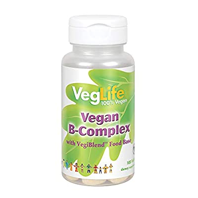 VegLife B-Complex, Vegan | Certified Vegan | 100 Tablets