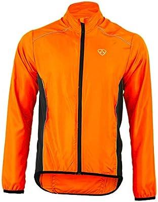 Deportes Hera Ropa Ciclismo Chaqueta Paraviento Wind Stopper y Repelente al Agua/Ciclistas Hombre Chubasquero