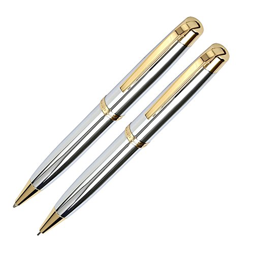 Marquis by Waterford Metro Ball Pen and Mechanical Pencil Set, Chrome/Gold ()