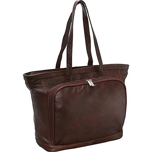 AmeriLeather Cosmopolitan Leather Tote (Dark Brown) (Amerileather Leather Tote)