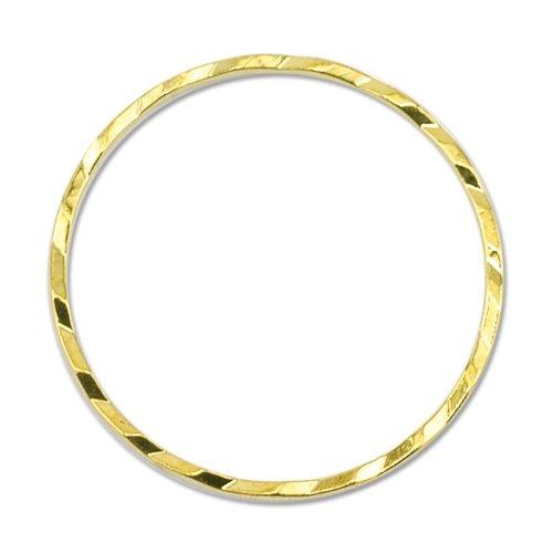 Beadalon Quick Links Round 20mm Diamond Cut Gold Plated, 10-Piece