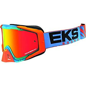 EKS Brand EKS-S Outrigger Adult Dirt Bike Motorcycle Goggles Eyewear - Cyan/Flo Orange/Black One Size Fits All