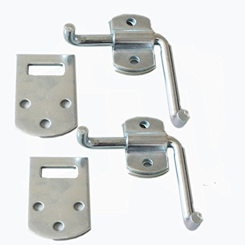 (X-Haibei 2 Set Corner Gate Latch Bracket Sets Utility Trailer/Trucks Wood Security Rack Stake Body Gate Bracket)