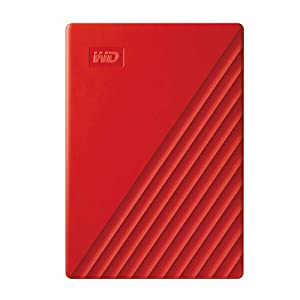 WD 2TB My Passport Portable External Hard Drive, Red – with Automatic Backup, 256Bit AES Hardware Encryption & Software Protection
