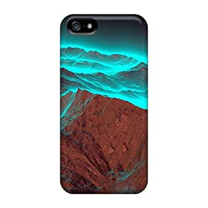 Tpu Shockproof/dirt-proof Rocks Northern Lights Cover Case For Iphone(5/5s)