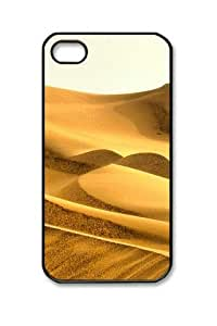 Iphone 4 4s PC Hard Shell Case Beauty Desert 6 Black Skin by Sallylotus by icecream design