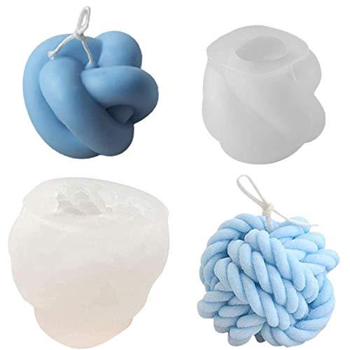 Molde de silicona velas  o jabon nudo 3D y bola nudos pack 2