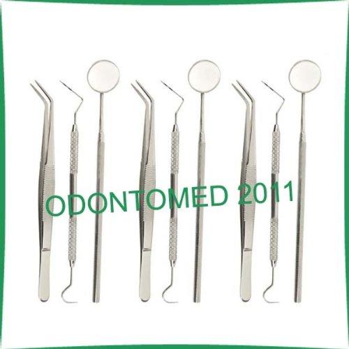 3 Pack Basic Dental Exam Set Up, 4 Instruments Set