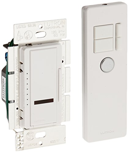 Lutron MIR-600MT-WH Maestro IR 600-Watt Multi-Location Dimmer with IR Remote Control, White - Maestro Ir Dimmer