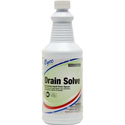 Nyco Products NL013-Q12 Drain Solve Odorless Non Acid Drain Opener, 32-Ounce Bottle (Case of ()