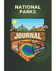 National Parks Journal: U.S National Parks Travel Stamp Book, Trip Planner and Outdoor Adventure List Guide
