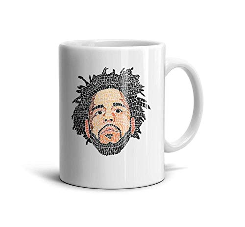 - J-Cole-2014-Forest-Hills-Drive- Classic Coffee Mugs 11oz Ceramic Tea Cups,J Cole Head,One Size