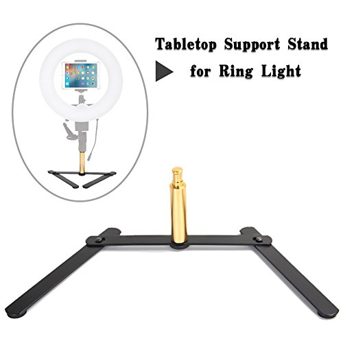 Price comparison product image Ring Light Support Stand,  ZOMEI Desk Stand for Makeup, Portrait, Selfie, YouTube Video, Live Webcast, Still Life Photography