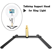 Ring Light Support Stand, ZOMEI Desk Stand for MakeUp,Portrait,Selfie,Youtube Video,Live Webcast,Still Life Photography