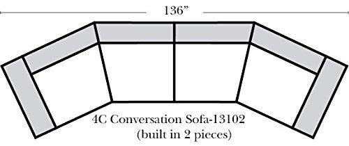Black Palms Fabric Sectional Sofa Chaise B00r6wulli