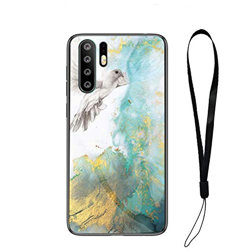 Marble Glass Case for Huawei Mate 20 Lite P20 P30 Pro P20 Lite P30 Tempered  Glass Cover,2,P30 Lite