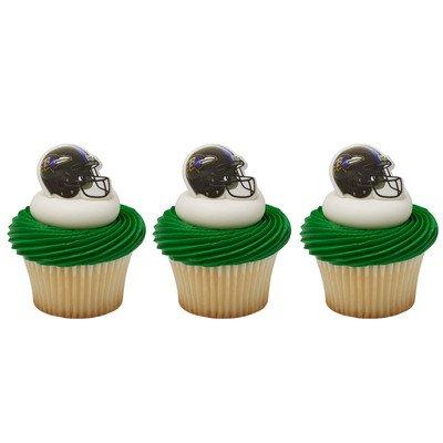 NFL Baltimore Ravens Cupcake Rings 12 Pack (Baltimore Ravens Decorations)