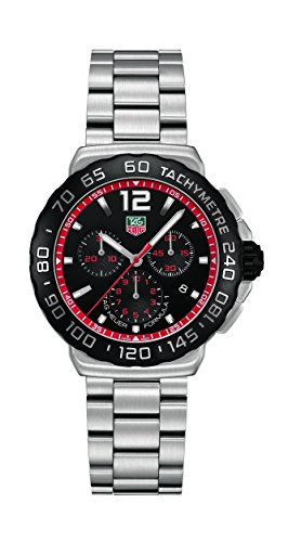 TAG Heuer Men's CAU1116.BA0858 Formula 1 Black Dial Stainless Steel Watch New Tag Heuer