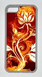 MMZ DIY PHONE CASEipod touch 5 TPU Supple Shell Case Flower Fire Transparent Skin by Sallylotus
