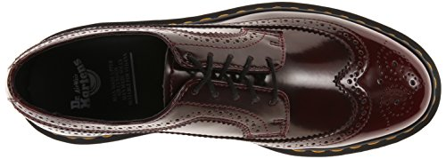 Dr. Martens 3989 Vegan Cherry Red C, Scarpe Stringate Basse Brogue Unisex-Adulto Rosso (Cherry Red)