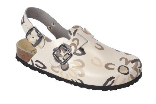 Wörishofer Clog m. Fersenriemen 41610 - Zapatos con hebilla de cuero para mujer Marrón