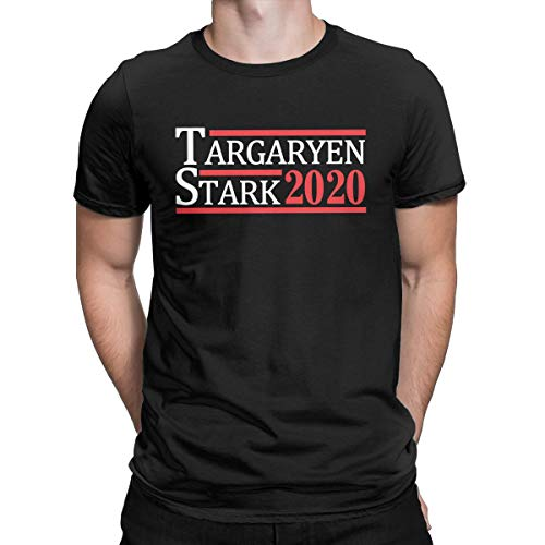 Targaryen and Stark for President Funny T Shirt 2020 Election Thrones Style Tops Tees Men Black