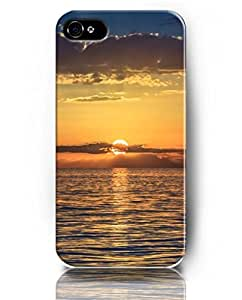 Cases for iPhone 5 5S, UKASE Phone Case Theme of Sky and Sea - Sunset Scene on the Sea