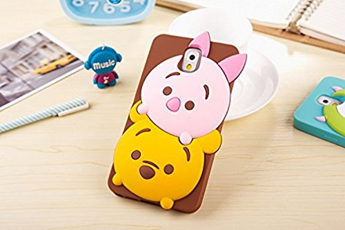 Note 4 Case, 3D Cute Cartoon Animal Soft Silicone Gel Back Case Cover for Samsung Galaxy Note 4 (Piglet)