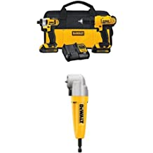 DEWALT DCK240C2 20v Lithium Drill Driver/Impact Combo Kit (1.3Ah) with DWARA100 Right Angle Attachment