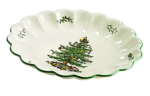 Spode Christmas Tree Oval Fluted Dish ()