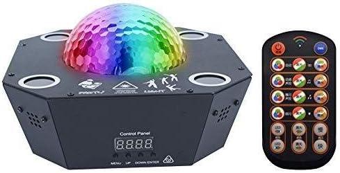 ZZY Magic Ball partido de la luz de DJ del proyector Etapa luces de iluminación Spotlight 120 Patrón de luces de colores con Home Show Bar Club cumpleaños