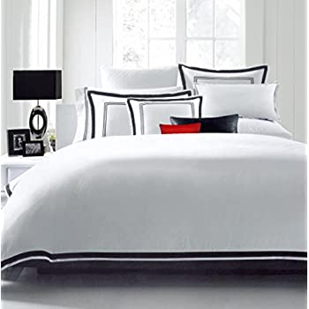 The Emily and Meritt Black and White Scallop Duvet Cover and Sham