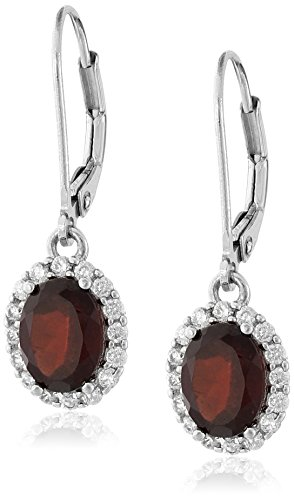 Garnet Dangling Earrings - 1