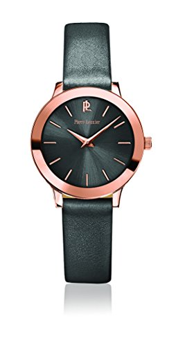 Women's Watch Pierre Lannier - 023K989 - WEEK-END LIGNE PURE - Grey and Rose-Gold - Leather Band by Pierre Lannier