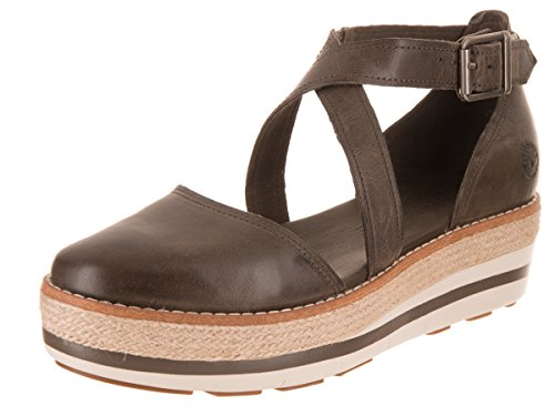 Timberland Women's Emerson Point Closed Toe Sandal Olive Full Grain 9 B (Grain Triple Shock)