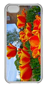 Customized iphone 5C PC Transparent Case - Tulips 7 Personalized Cover