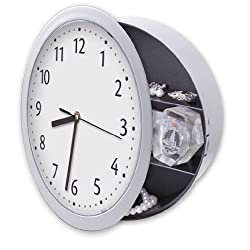 Meridian Point Wall Clock with Hidden Safe