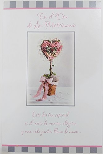 En El Dia de Su Matrimonio / On Your Wedding Day Greeting Card in Spanish