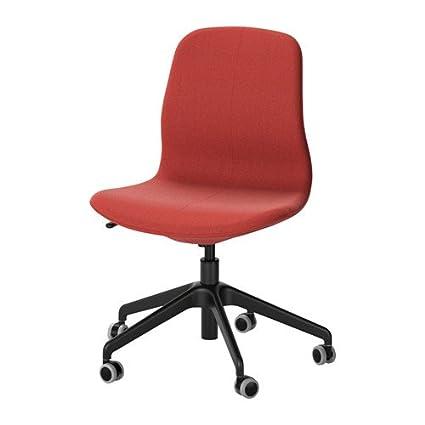 Groovy Amazon Com Ikea Swivel Chair Gunnared Brown Red Black Beatyapartments Chair Design Images Beatyapartmentscom