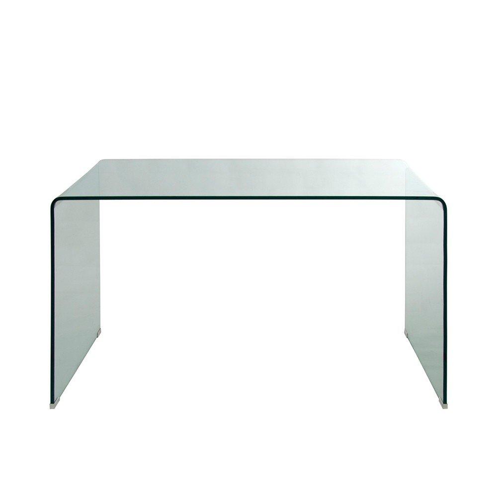 Homy Schreibtisch Schreibtisch Schreibtisch Glas Klarglas 125x70cm transparent Glaschreibtisch Arbeitstisch - Xenia 58db61