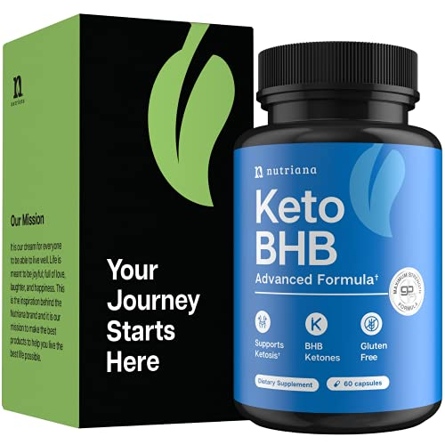 Nutriana Keto Diet Pills for Women and Men – Keto Supplements Bhb for Ketosis – Bhb Salts Exogenous Ketones – 30 Day…
