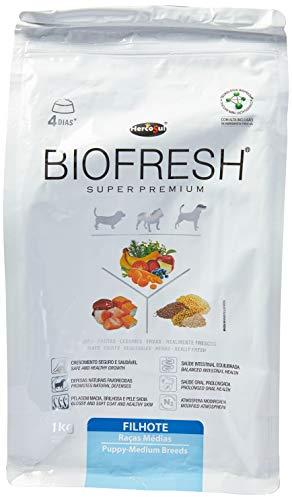 Biofresh A Ração Hercosul para Cães Filhotes de Raças Médias, Sabor carne, frutas, legumes, ervas e vegetais 1kg
