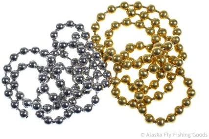 For Fly Tying or Crafting Bead Chain for dumbell effect 3 size Veniard Fly Tying Eyes