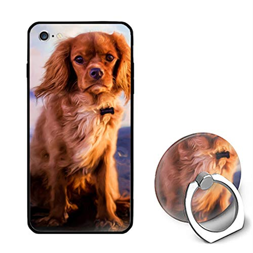 Spanish Hound iPhone 6S Case/iPhone 6 Case Rubber Shockproof Cover with Ring Kickstand Compatible with iPhone 6 / 6S ()