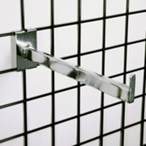 New Retails Chrome Rectangular Faceout 12 Inch Long 3'' O.C. Gridwall by Faceout