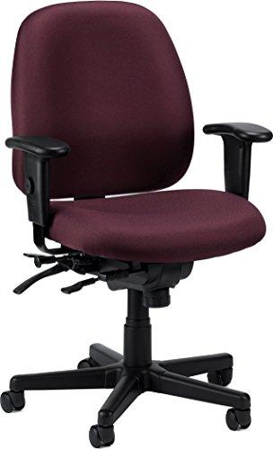 Eurotech Seating 4×4 SL 498SL-BURG Seat Slider Swivel Chair, Burgundy